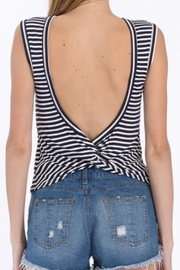 Olivaceous Striped Tank Top - Front full body