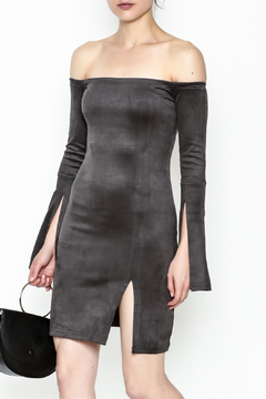Olivaceous Suede Dress - Product List Image