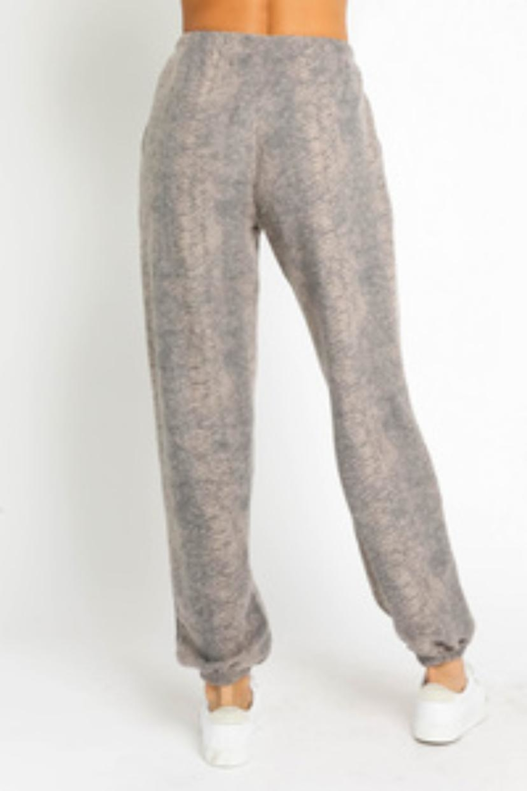 Olivaceous Sweater Pants Set - Back Cropped Image