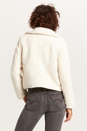 Olivaceous Teddy Moto Jacket - Front full body