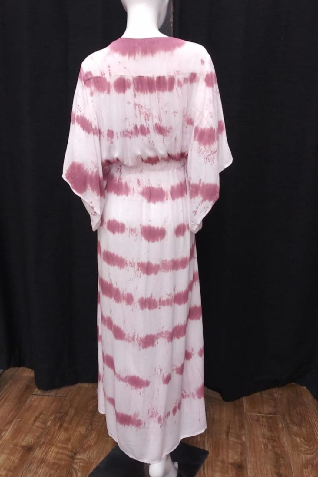 Olivaceous Tie Dye Dress - Front Full Image
