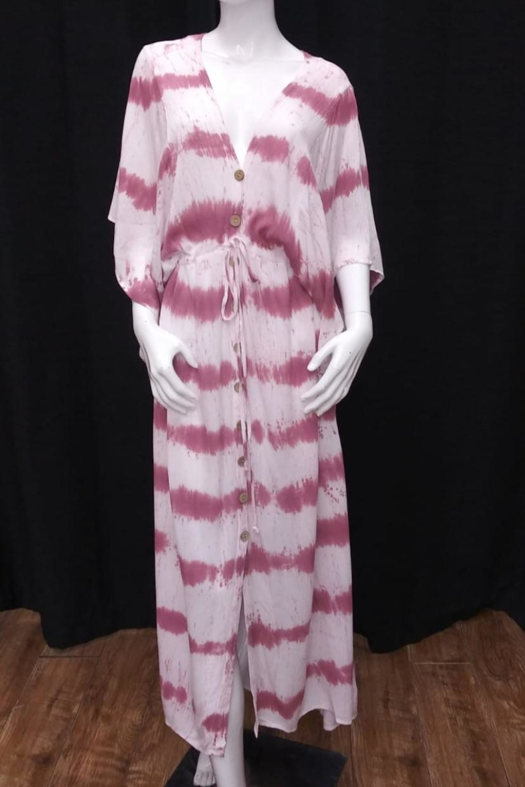 Olivaceous Tie Dye Dress - Front Cropped Image