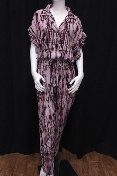 Olivaceous Tie Dye Jumpsuit - Product List Image