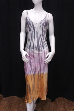 Olivaceous Tie-Dye Slip Dress - Product List Image