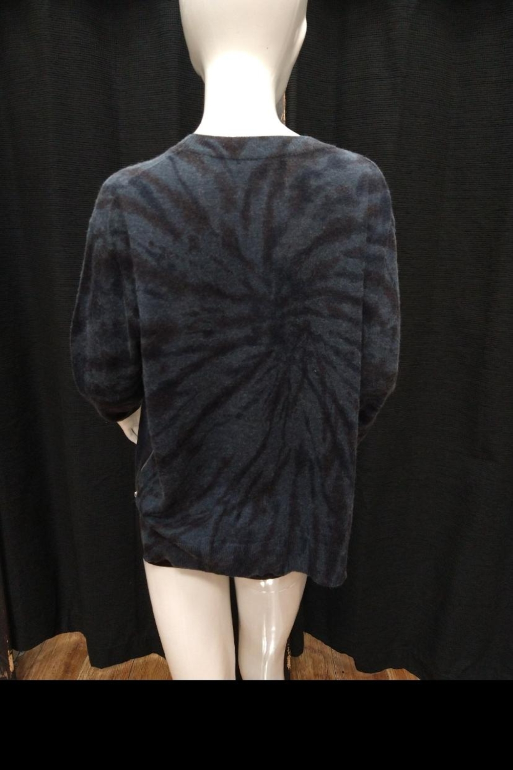 Olivaceous Tie Dye Sweater - Side Cropped Image