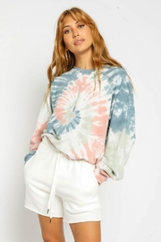 Olivaceous Tie Dye Sweatshirt - Back cropped