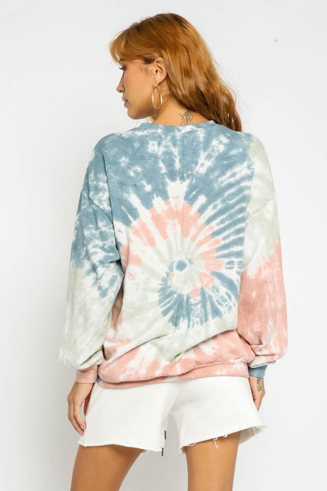 Olivaceous Tie Dye Sweatshirt - Side Cropped Image