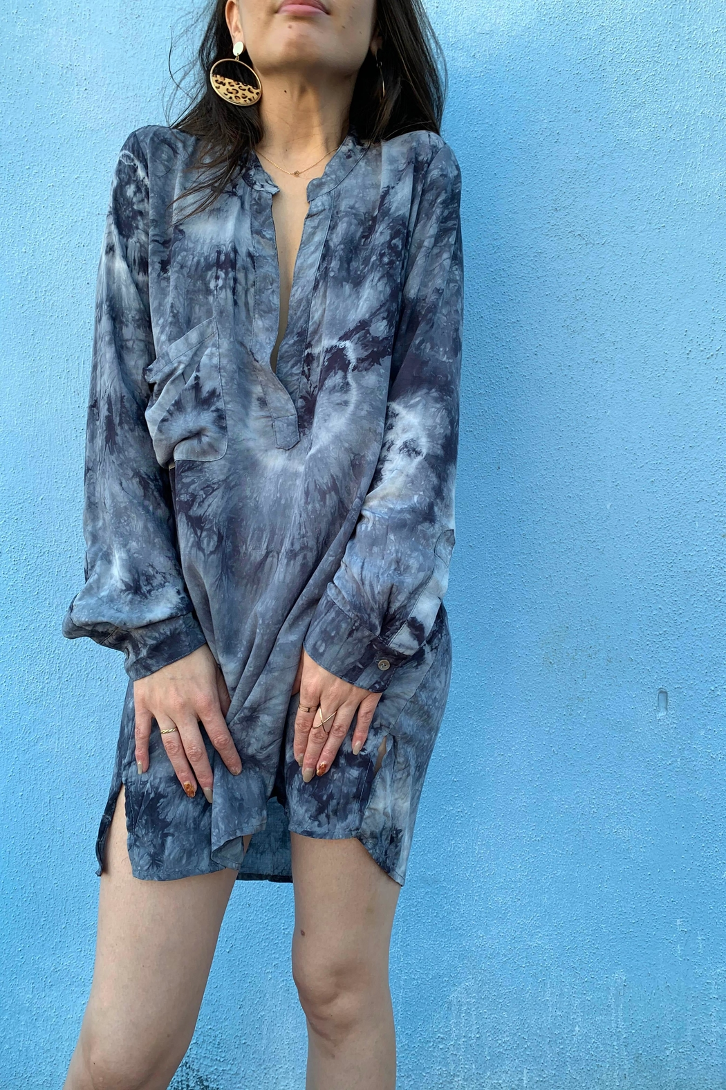 Olivaceous Tie Dye Tunic - Front Full Image