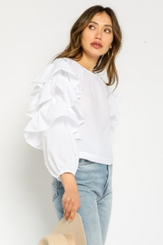 Olivaceous Tiered Sleeve Top - Side cropped