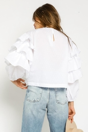 Olivaceous Tiered Sleeve Top - Back cropped