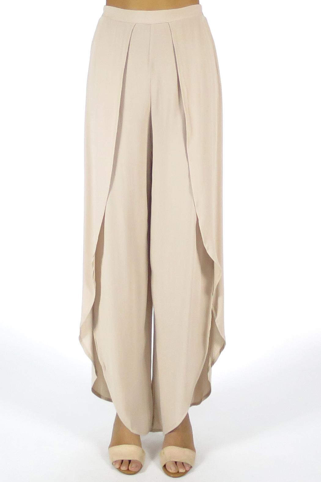 Olivaceous Tulip Pants - Front Full Image
