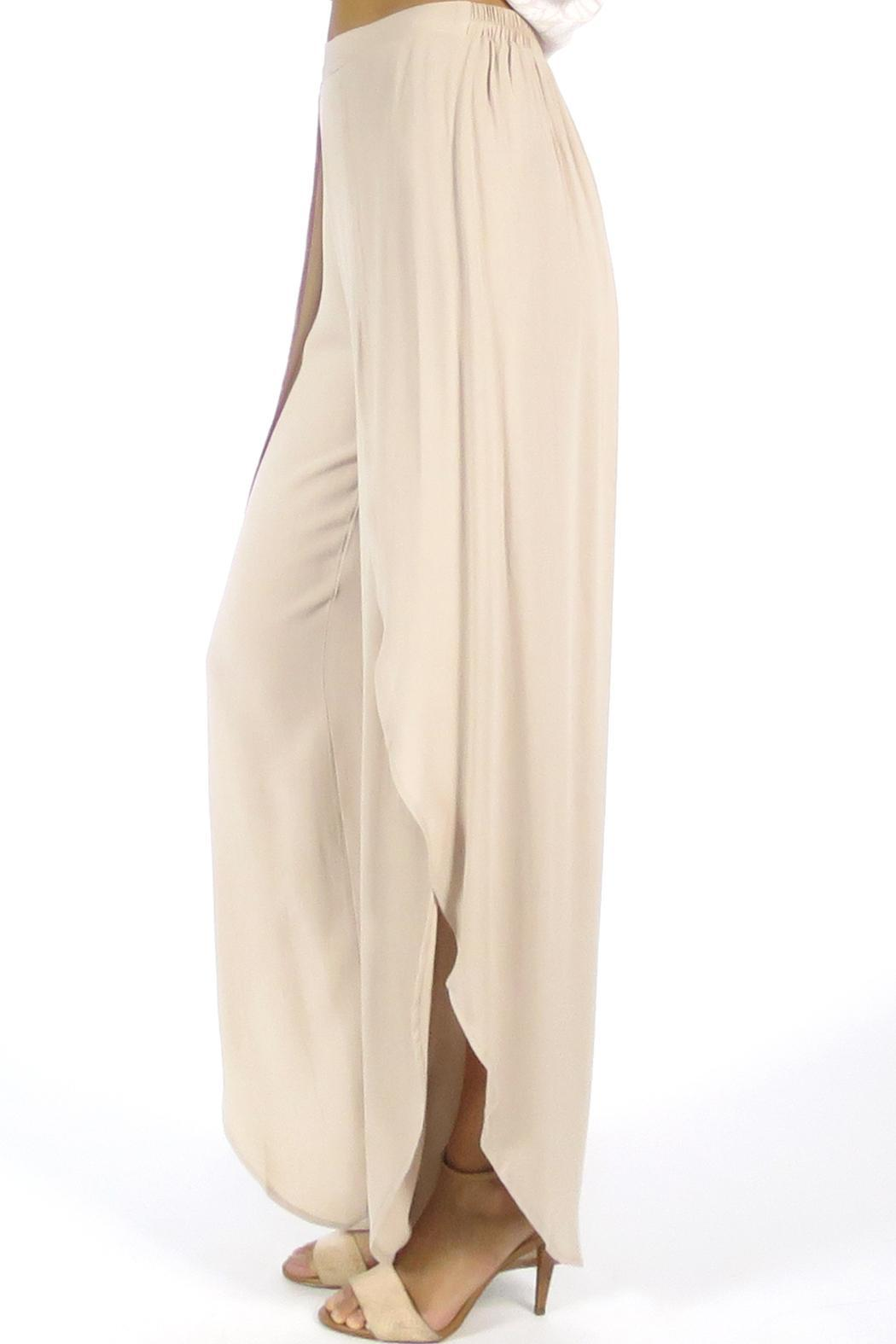 Olivaceous Tulip Pants - Side Cropped Image