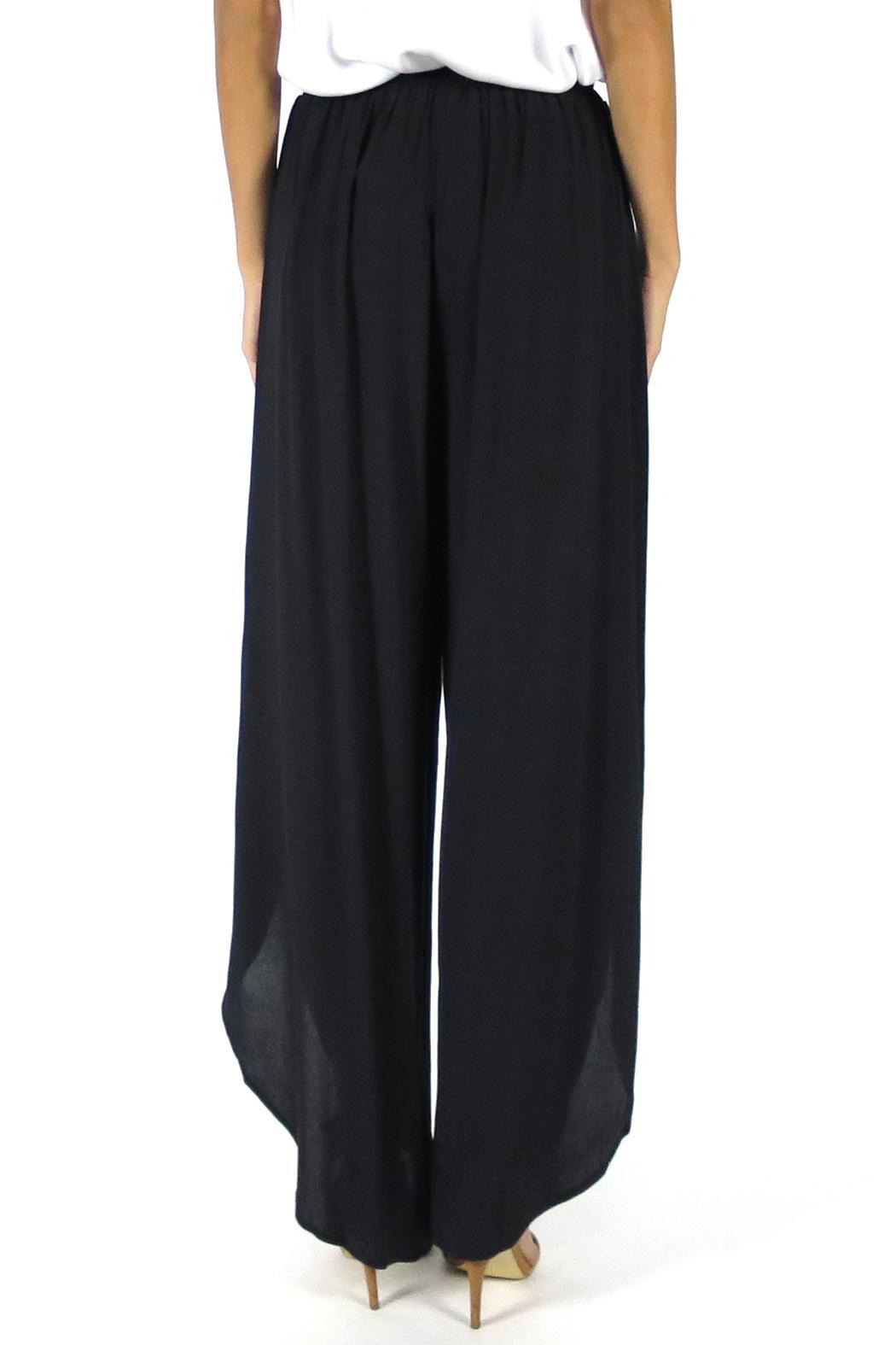 Olivaceous Tulip Pants - Back Cropped Image