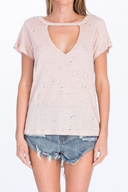 Olivaceous V-Neck Choker Tee - Product Mini Image