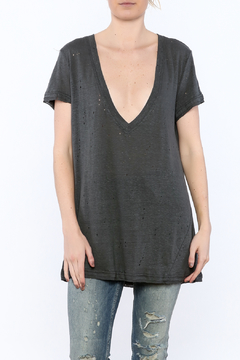 Olivaceous V-Neck Distressed Tee - Product List Image