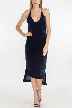 Olivaceous Velvet Slip Dress - Product List Image