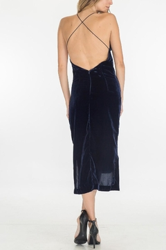 Olivaceous Velvet Slip Dress - Alternate List Image