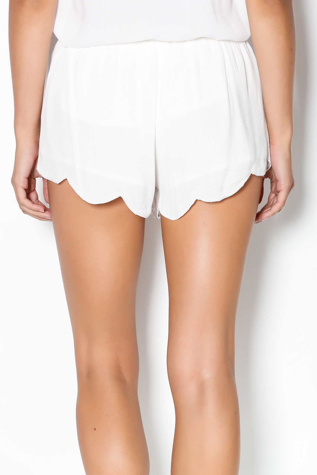 Olivaceous White Flowy Shorts from Miami by Allie & Chica — Shoptiques