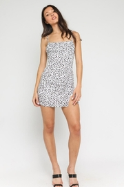 Olivaceous White Leopard Mini Dress - Back cropped