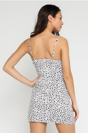 Olivaceous White Leopard Mini Dress - Side cropped