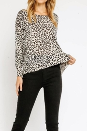 Olivaceous White Leopard Sweater - Product Mini Image