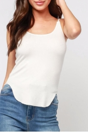 Olivaceous White Ribbed Tank - Product Mini Image