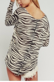 Olivaceous Zebra Sweater - Front full body