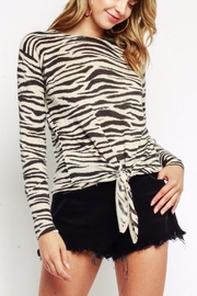 Olivaceous Zebra Tie Sweater - Product Mini Image