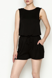 Olive & Oak Black Sleeveless Romper - Front cropped