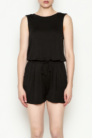Olive & Oak Black Sleeveless Romper - Front full body