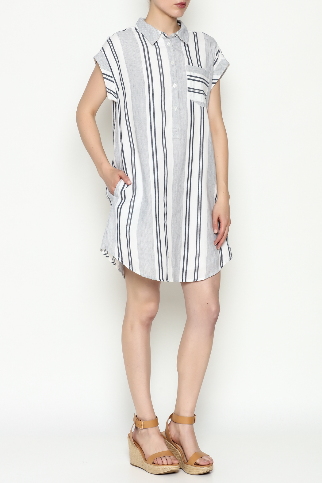 Olive & Oak Multicolored Stripe Dress - Side Cropped Image