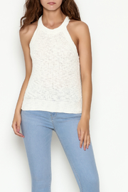 Olive & Oak Cropped White Sweater Tank - Front cropped