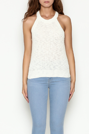 Olive & Oak Cropped White Sweater Tank - Front full body