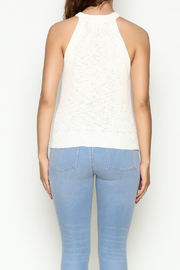 Olive & Oak Cropped White Sweater Tank - Back cropped