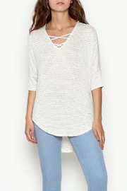 Olive & Oak Ivory Stripe Top - Front cropped