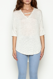 Olive & Oak Ivory Stripe Top - Front full body