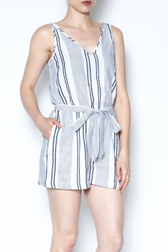 Olive & Oak Striped Kulm Romper - Product List Image