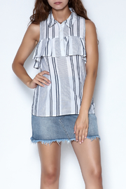 Olive & Oak Striped Max Top - Product Mini Image