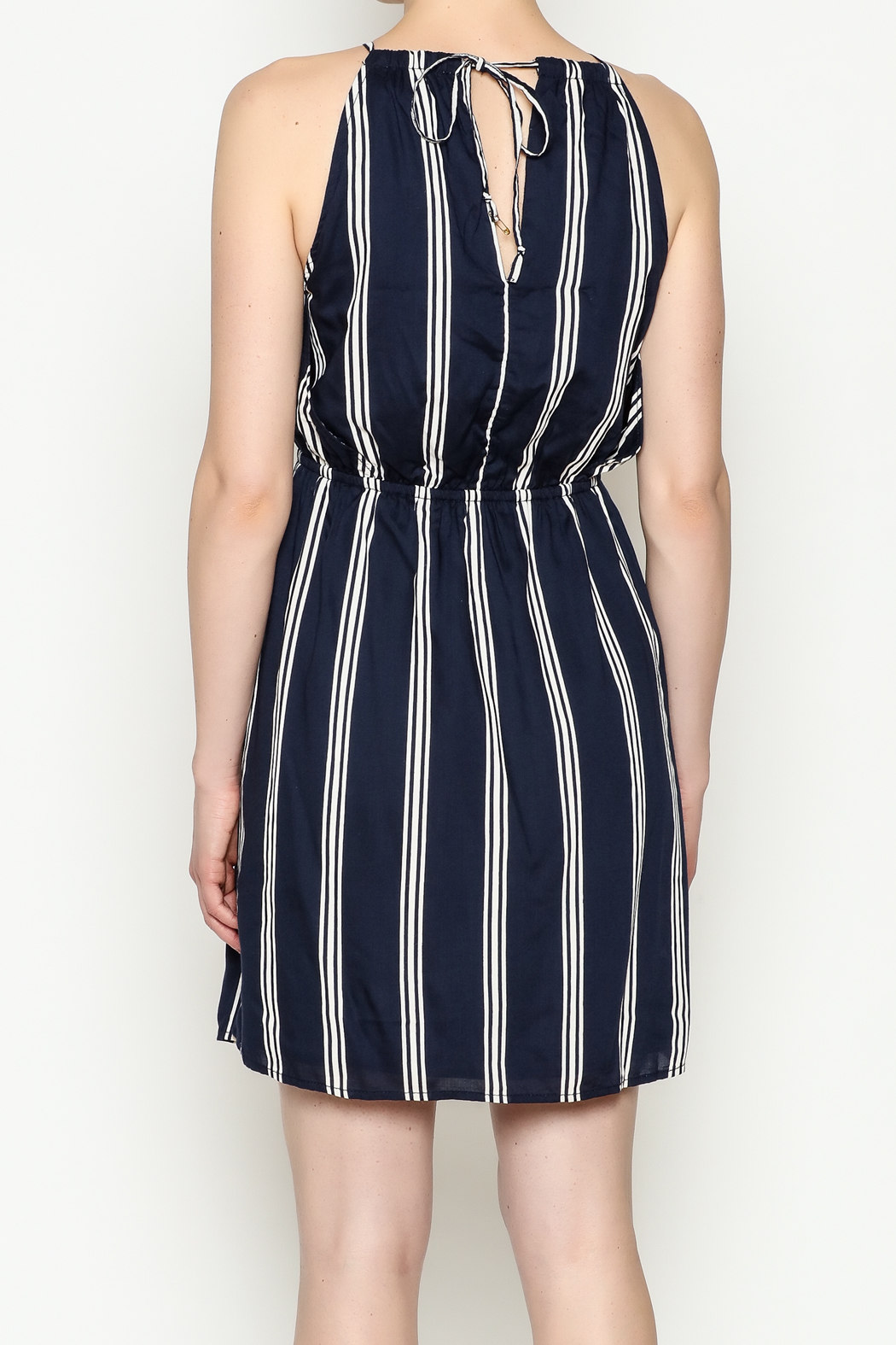 Olive & Oak Navy Stripe Dress - Back Cropped Image