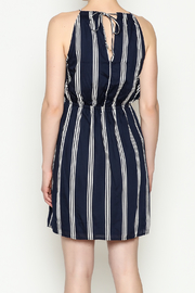 Olive & Oak Navy Stripe Dress - Back cropped