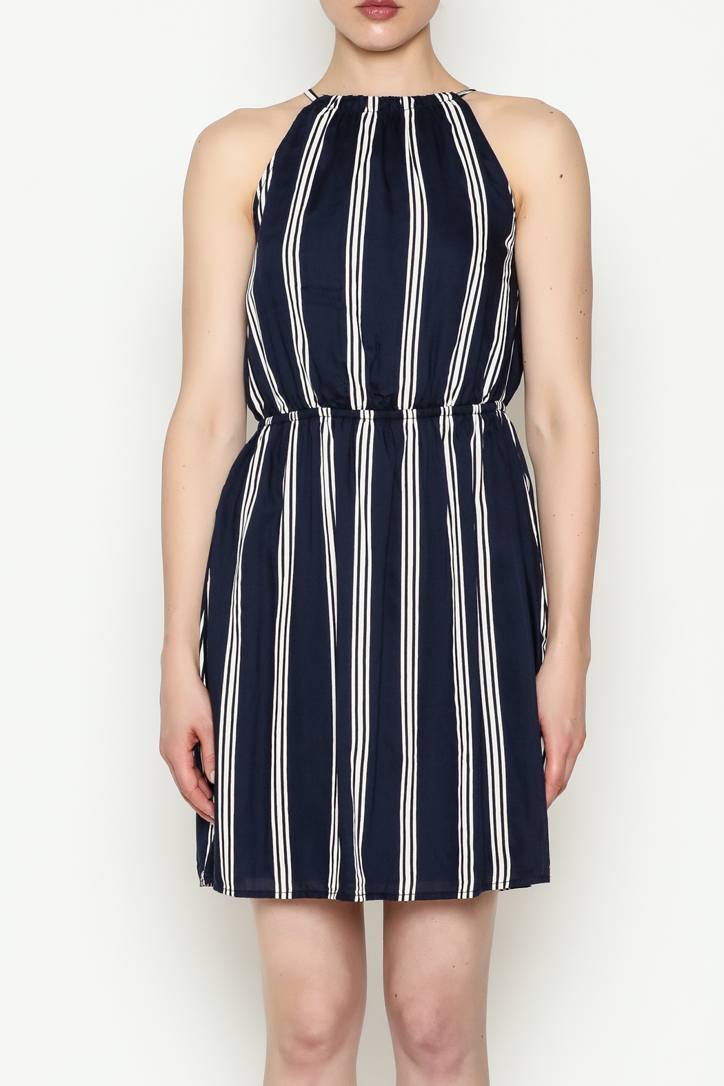 Olive & Oak Navy Stripe Dress - Front Full Image