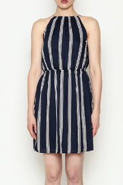 Olive & Oak Navy Stripe Dress - Front full body