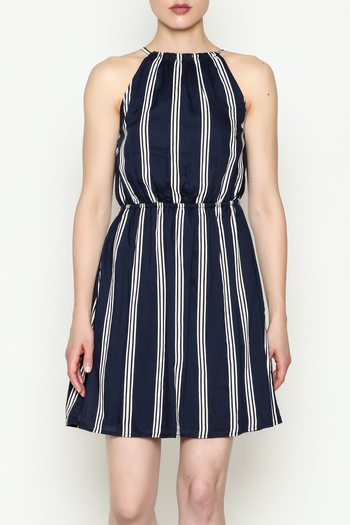 Olive & Oak Navy Stripe Dress - Main Image