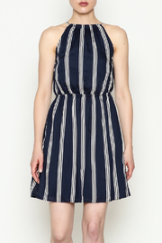 Olive & Oak Navy Stripe Dress - Front cropped