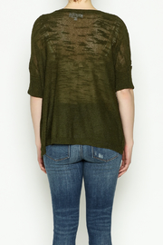 Olive & Oak Olive Lightweight Sweater - Back cropped