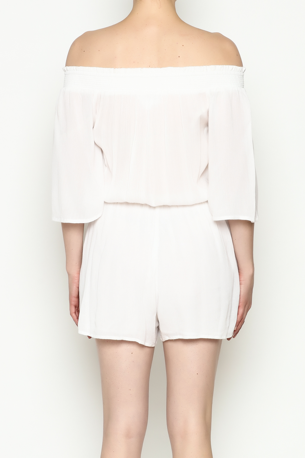 Olive & Oak White Romper - Back Cropped Image
