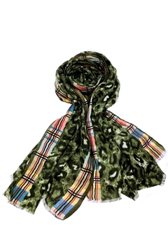 Shoptiques Product: Olive Animal Scarf