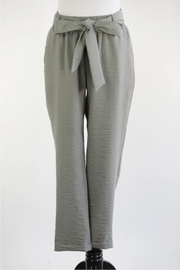 Final Touch Olive Belted Pants - Product Mini Image