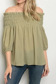 Casting Olive Blouse - Product Mini Image