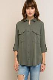 Entro Olive Blouse Blouse - Front full body